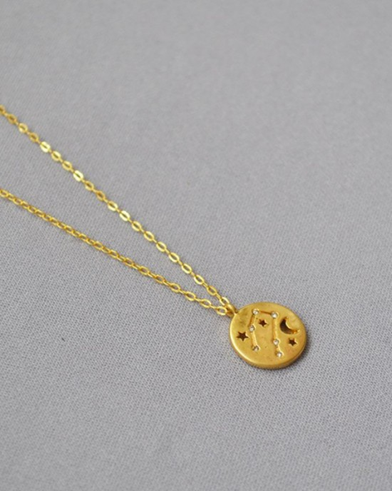 GEMINI Constellation Coin Necklace