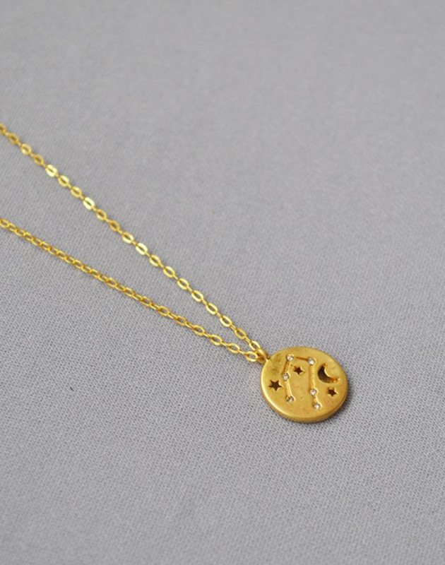 GEMINI Constellation Coin Necklace