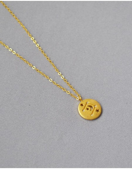 LIBRA Constellation Coin Necklace