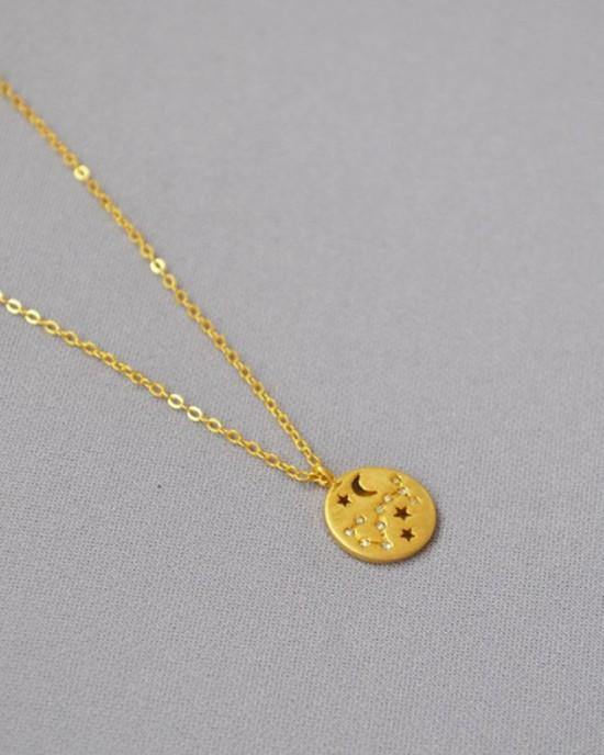 SCORPIO Constellation Coin Necklace