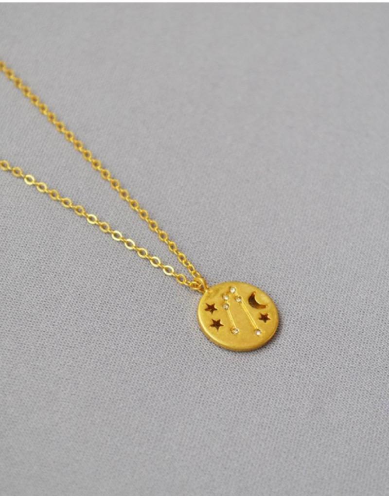 TAURUS Constellation Coin Necklace