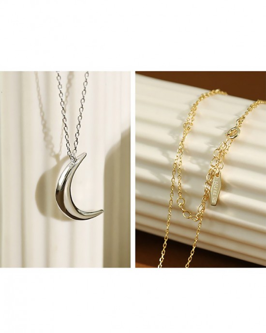CRESCENT Sterling Silver Necklace