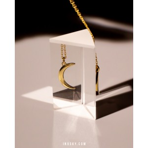 CRESCENT Gold Vermeil Necklace