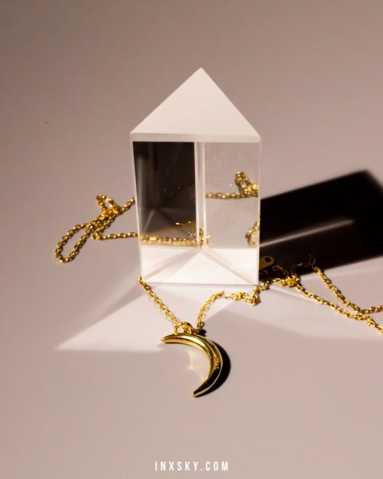 CRESCENT Gold Vermeil Necklace