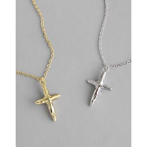 CRUCIFIX Gold Vermeil Necklace