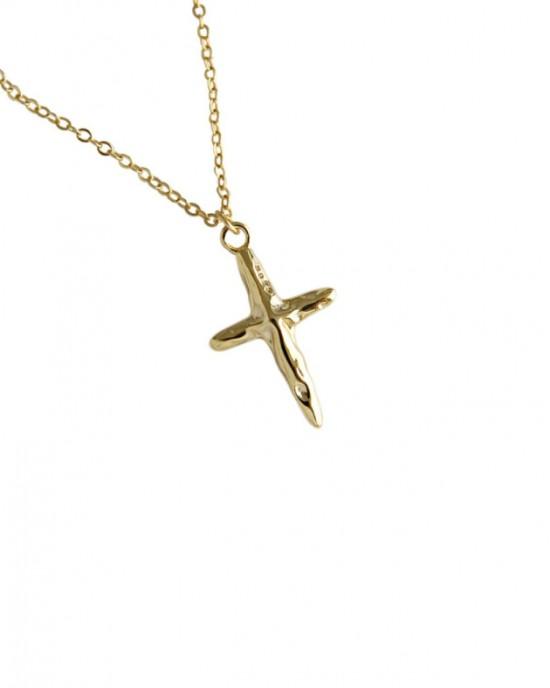 CRUCIFIX Gold Vermeil Necklace