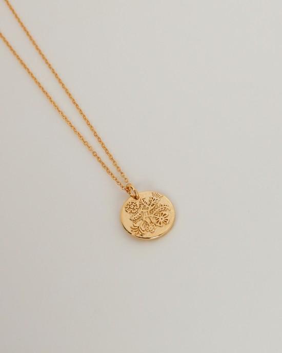 DEER Gold Vermeil Coin Necklace