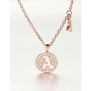 DIAMOND ALPHABET Necklace | Letter A