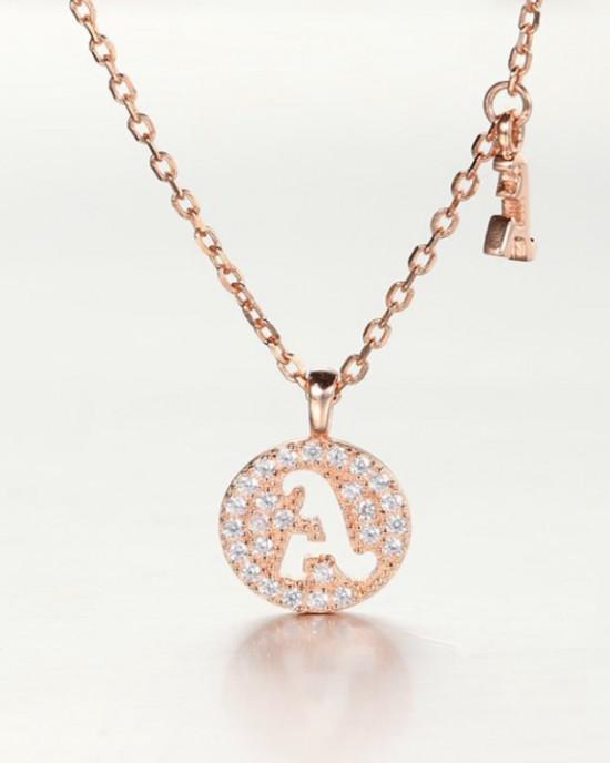 DIAMOND ALPHABET Necklace   Letter A