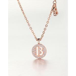 DIAMOND ALPHABET Necklace | Letter B