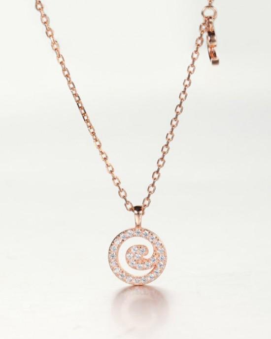 DIAMOND ALPHABET Necklace   Letter C