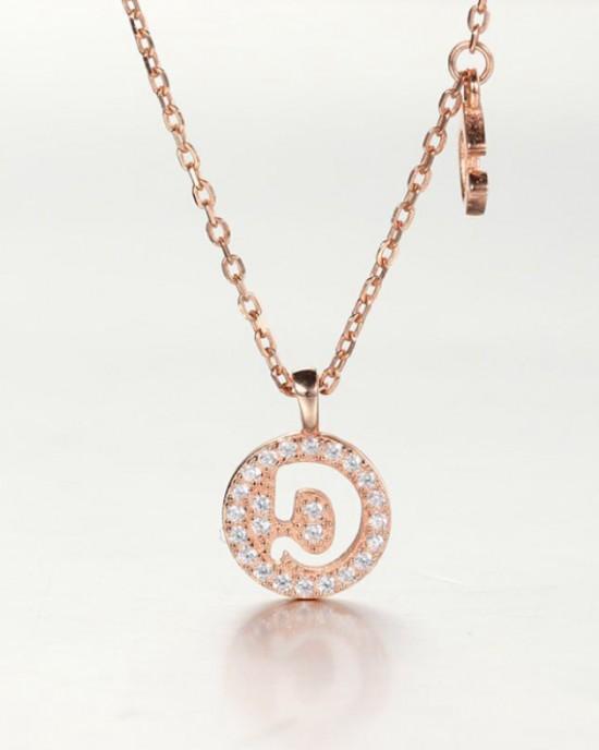 DIAMOND ALPHABET Necklace | Letter D