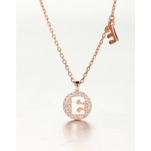 DIAMOND ALPHABET Necklace | Letter E