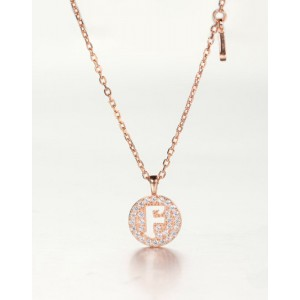 DIAMOND ALPHABET Necklace | Letter F