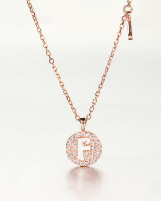 DIAMOND ALPHABET Necklace   Letter F