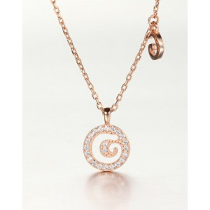 DIAMOND ALPHABET Necklace | Letter G