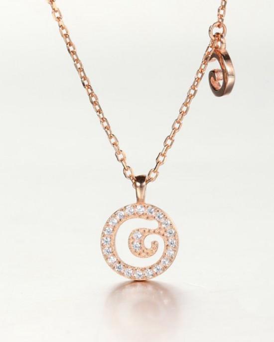 DIAMOND ALPHABET Necklace | Letter G