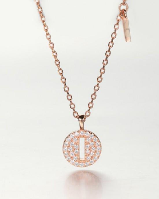 DIAMOND ALPHABET Necklace   Letter I