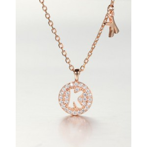 DIAMOND ALPHABET Necklace | Letter K