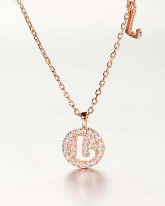 DIAMOND ALPHABET Necklace | Letter L