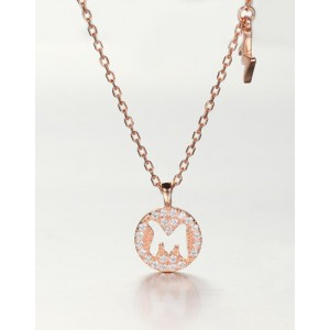 DIAMOND ALPHABET Necklace | Letter M