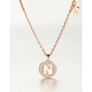 DIAMOND ALPHABET Necklace | Letter N