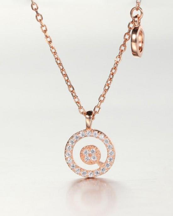 DIAMOND ALPHABET Necklace   Letter O