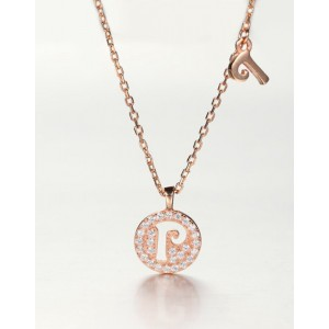 DIAMOND ALPHABET Necklace | Letter P