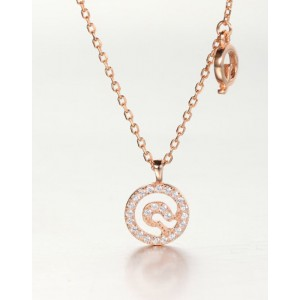 DIAMOND ALPHABET Necklace | Letter Q
