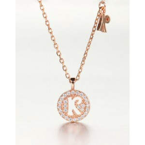 DIAMOND ALPHABET Necklace | Letter R