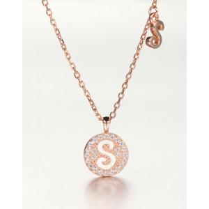 DIAMOND ALPHABET Necklace   Letter S