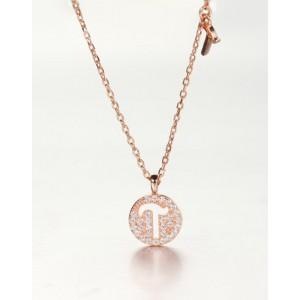 DIAMOND ALPHABET Necklace   Letter T