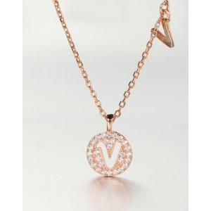 DIAMOND ALPHABET Necklace   Letter V