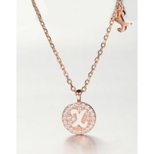 DIAMOND ALPHABET Necklace   Letter X