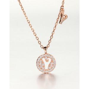 DIAMOND ALPHABET Necklace   Letter Y