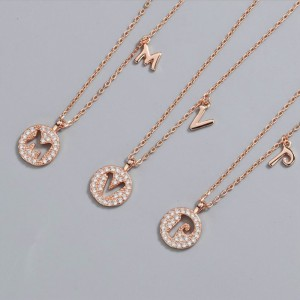 DIAMOND ALPHABET Necklace | Letter C