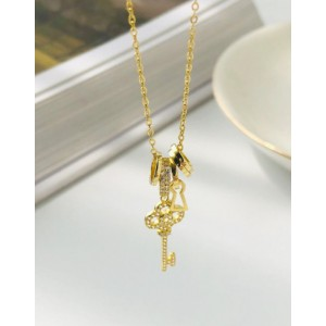 DIAMOND KEY Gold Vermeil Necklace