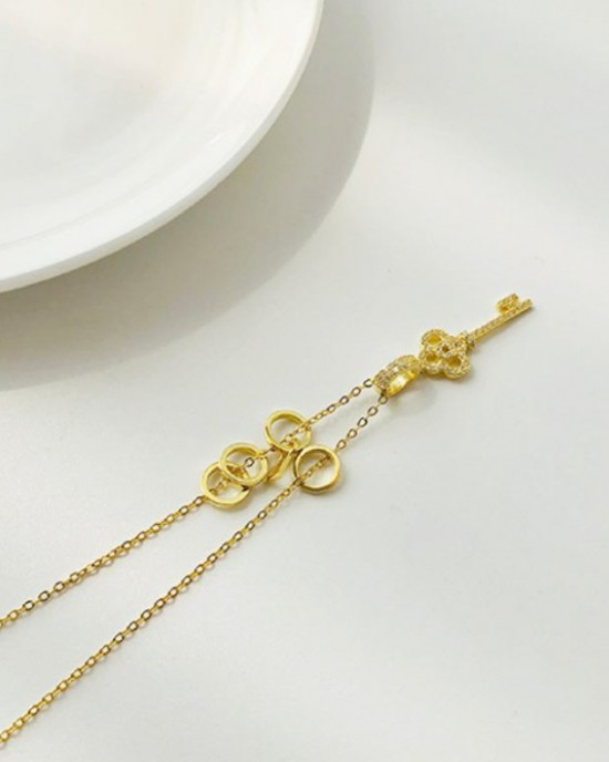 DIAMOND KEY Gold Vermeil Necklace