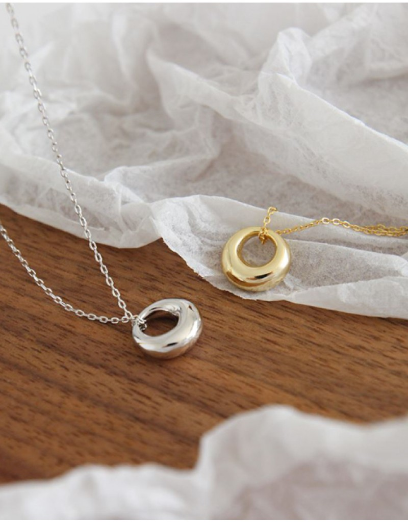 DOME Gold Pendant Necklace