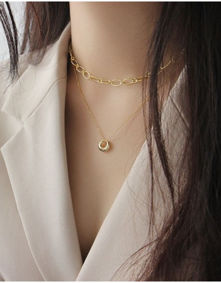 DOME Gold Vermeil Necklace
