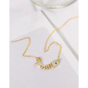 FISHBONE Gold Vermeil Necklace