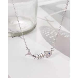FISHBONE Sterling Silver Necklace