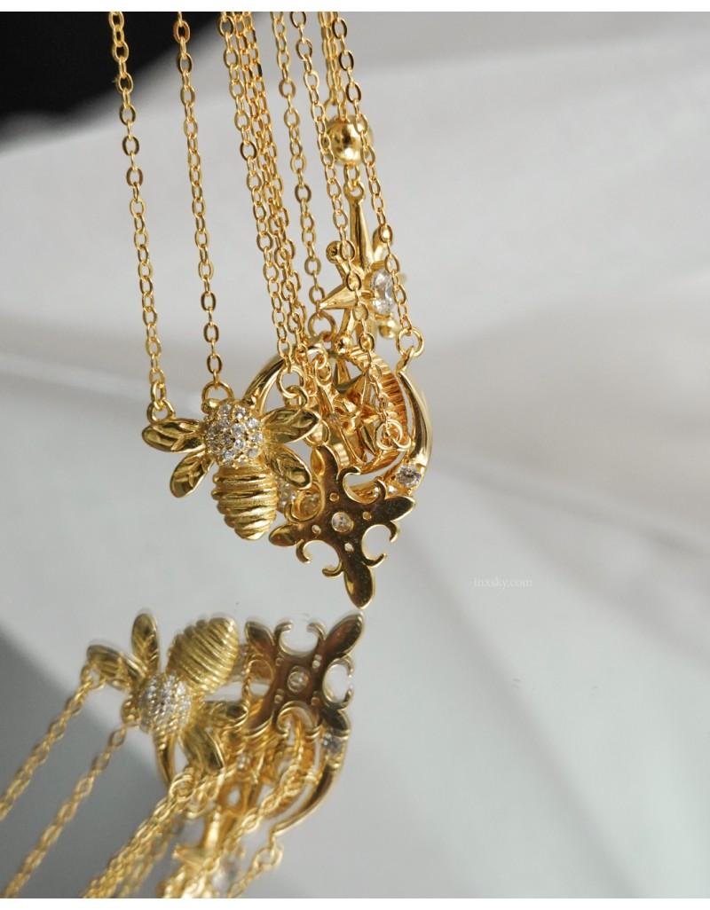 HONEY BEE Gold Vermeil Necklace