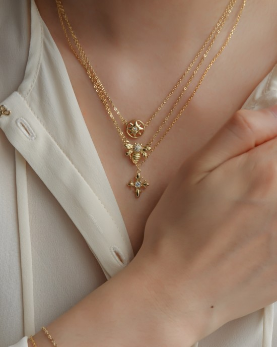 HONEY BEE Gold Vermeil Necklace