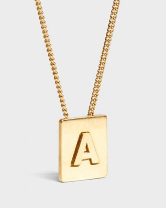INITIAL Necklace | Letter A