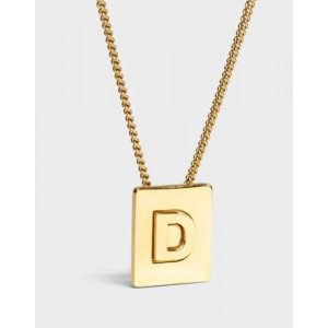 INITIAL Necklace   Letter D