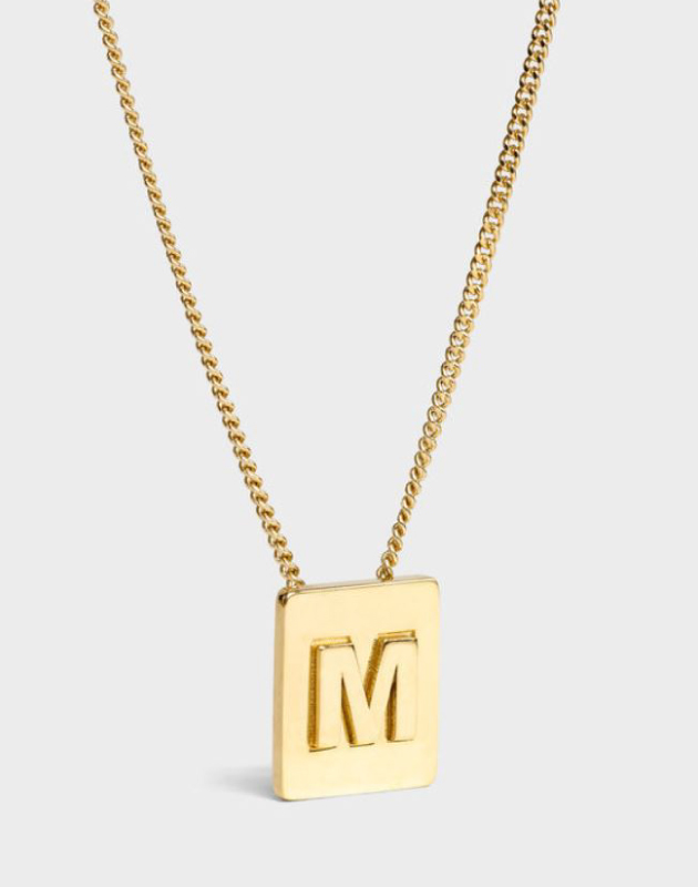 INITIAL Necklace | Letter M