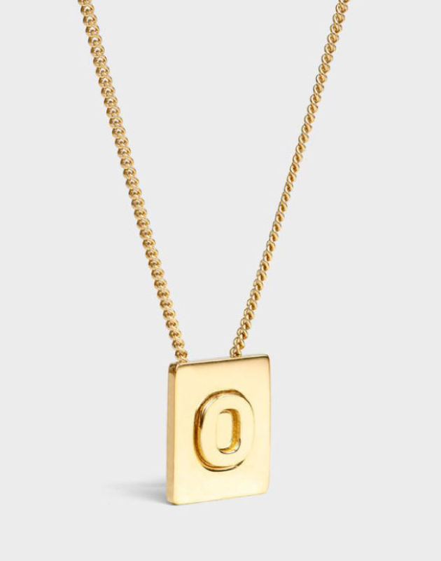 INITIAL Necklace | Letter O
