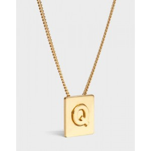 INITIAL Necklace | Letter Q
