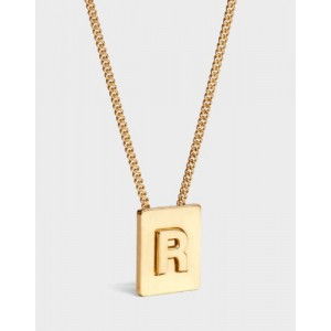 INITIAL Necklace | Letter R